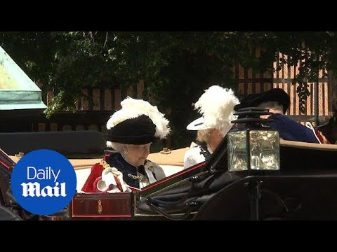 The Queen Charles and Camilla attend annual Garter Day service - Daily Mail
