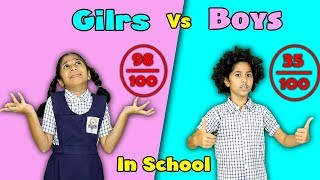 Girls Vs Boys In School Funny Video | Pari's Lifestyle Moral Story
