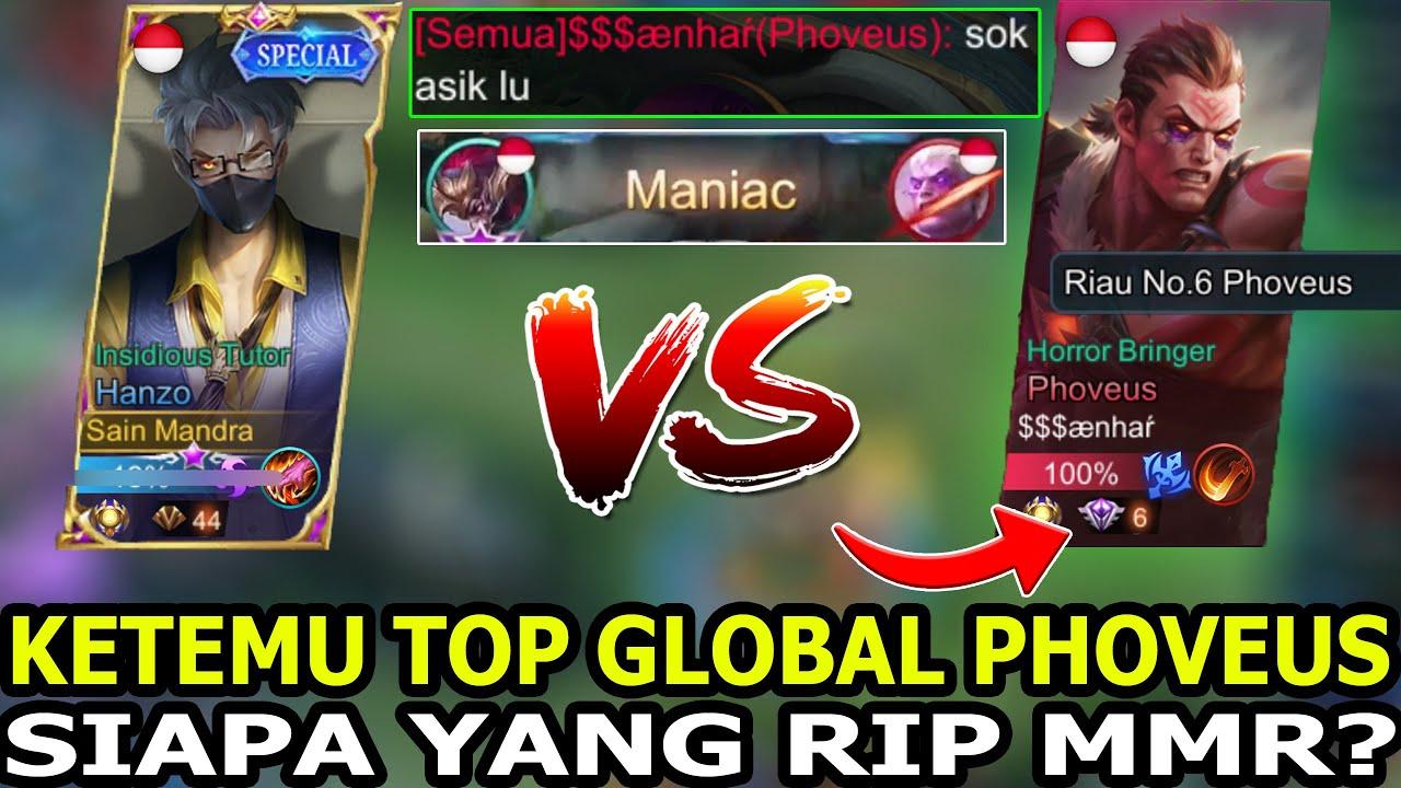 SOK ASIK LO ! GILA DI BACOTIN TOP GLOBAL PHOVEUS ! AUTO KASIH DIA MANIAC N RIP MMR - Mobile Legends