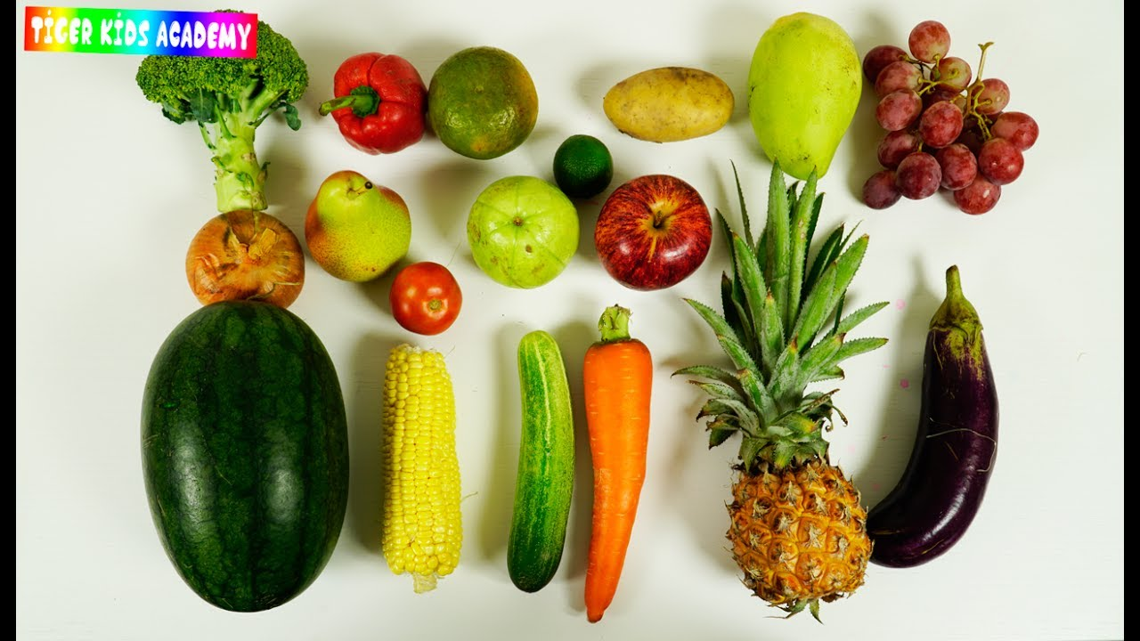 Learn Names Of Real Fruits And Vegetables Cutting For