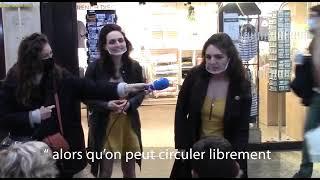 Théâtres fermés : 2 Humoristes jouent dans des magasins, tram et à la gare !