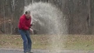 Soda Bottle Rocket Fail - How not to do it