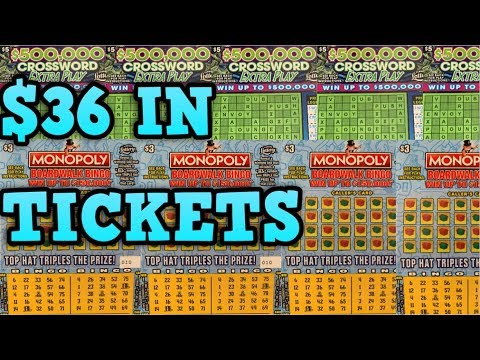 NEW MONOPOLY TICKETS! & EXTRA PLAY CROSSWORD FLORIDA SCRATCH OFF TICKETS!💰
