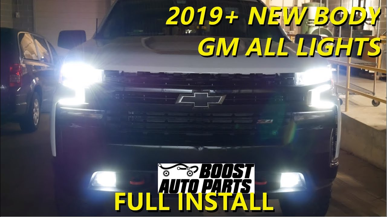 Fog Lights On With High Beams All Lights Mod 2019 New Body Chevy Silverado Gmc Sierra Youtube