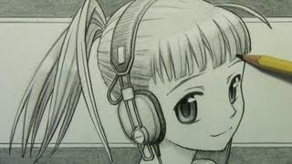 How to Draw a Manga Girl with Headphones