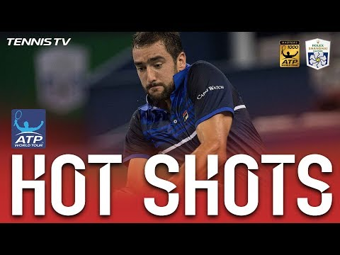 Hot Shot: Cilic Finishes Grueling Rally With Winner Shanghai 2017
