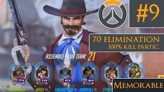 Repeat youtube video OVERWATCH - 100% Kill Participation McCree, 70 Elims, Rank 78