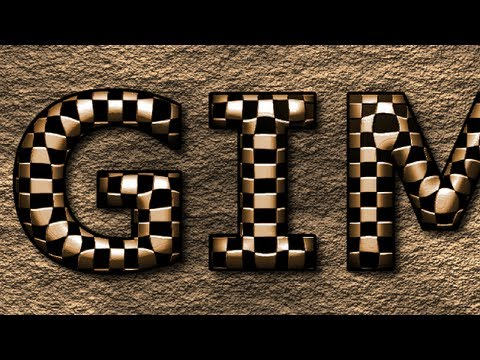 GIMP 2.8 Tutorial - Metal Text On A Stone Wall