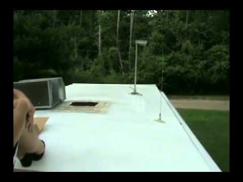 Liquid Roof Applying On RV Roof.   YouTube