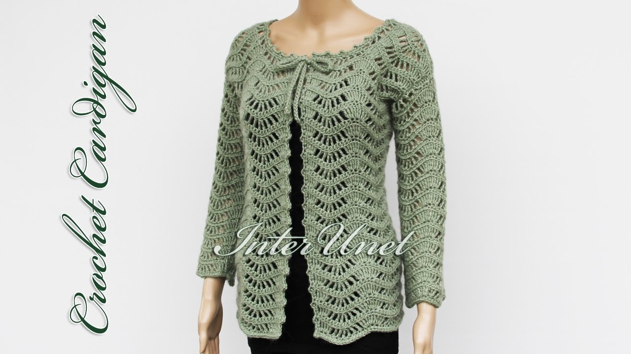 Lace jacket cardigan crochet pattern - YouTube