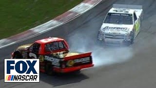 Chase Elliott Wrecks Ty Dillon to Win NASCAR Trucks Race at Canadian Tire Motorsports Park