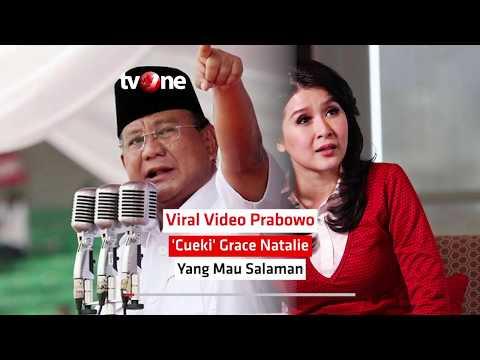 Viral Video Prabowo 'Cueki' Grace Natalie yang Mau Salaman