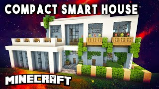 Compact Redstone Smart House (transform Into A Fortress!) - Modern Mansion Design