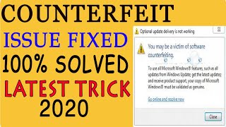 How to fix you may be victim of software counterfeiting ? Problem solution !!  हिंदी में  