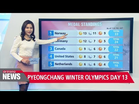 PyeongChang Winter Olympics Day 13