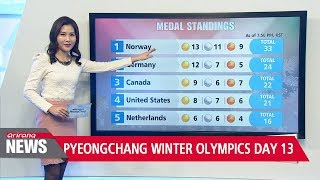 PyeongChang Winter Olympics Day 13