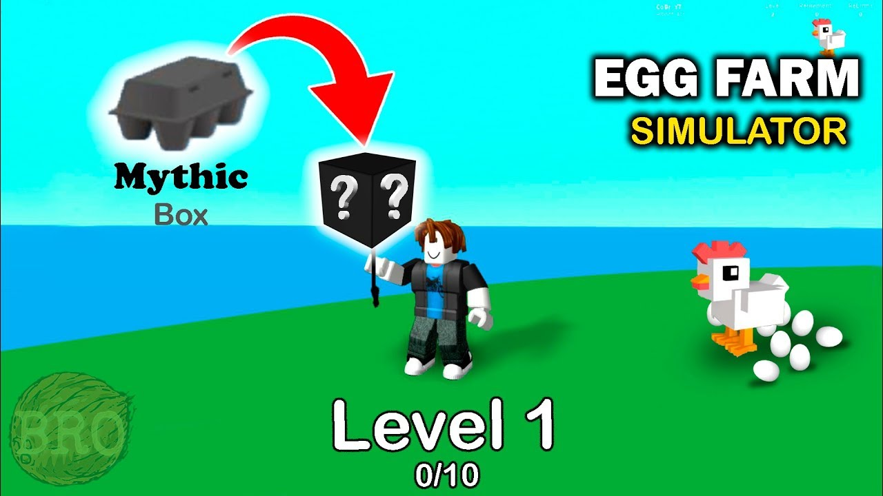 I Get a MYTHIC Box With Only LVL 1 - Egg Farm Simulator