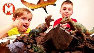 Игрушки динозавры для детей ЧЕЛЛЕНДЖ РАСКОПКИ ДИНОЗАВРОВ В ЖЕЛЕ Видео про динозавров ВИДЕО ДЛЯ ДЕТЕЙ