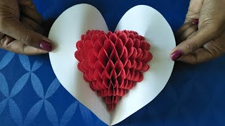 DIY | Pop-up heart ♥ Greeting Card | Love card | Festival Greeting Card | Beautiful Greeting Card