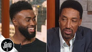 Jaylen Brown asks Scottie Pippen what it takes to win a championship | The Jump