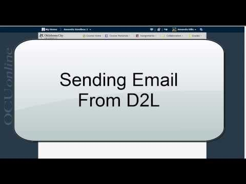 Sending Email from D2L 10.3