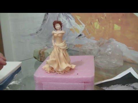 Изготовление фигурок из мастики с помощью силиконовых молдов (форм .