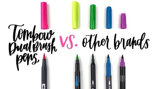 Hand Lettering with Tombow Dual Brush pens vs. other brands