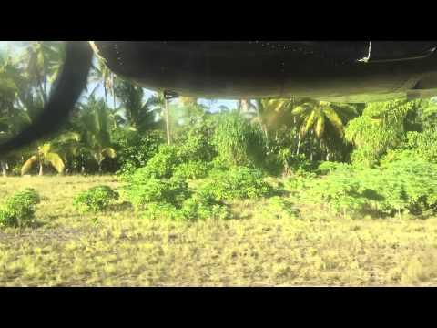 Air Kiribati arrives in Abaiang