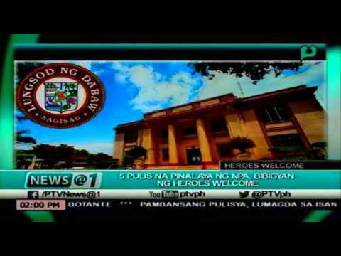 [News@1] 5 Pulis Na Pinalaya Ng NPA, Bibigyan Ng Heroes Welcome