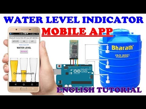 3#NEW WATER LEVEL INDICATOR SMART TANK MOBILE APP ENGLISH 2018 (sen electronics projects- suman sen)