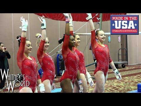 Whitney Bjerken | 4th Level 10 Gymnastics Meet | Made in the USA