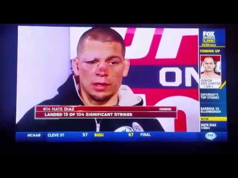 UFC ON FOX PHOENIX: Nate Diaz post fight interview