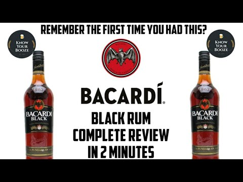 Bacardi Black Rum    Complete Review In 2 Minutes    Know Your Booze
