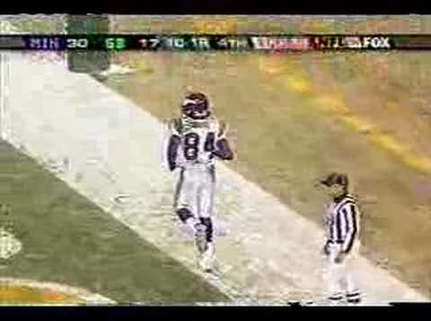 b1be04baa Randy Moss Moon at Lambeau Field - YouTube
