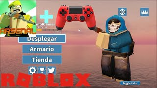 Arsenal game with a PS4 controller!! 🎮 - Roblox ElManolGamer