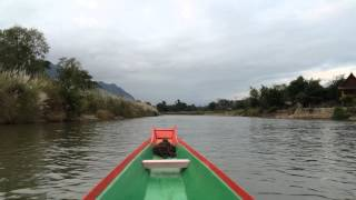 Journey up the Nam Song River in northern Laos