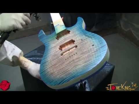 KIESEL / CARVIN : PAINT & FINISH : Carvin Custom Guitar Build - Custom Shop, San Diego, CA
