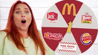 Best Fast Food Burger?! Taste Test Challenge (Wheel Eat That)