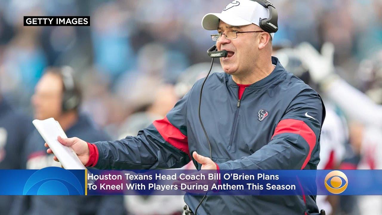 Texans' Bill O'Brien, Kenny Stills, several others kneel during anthem