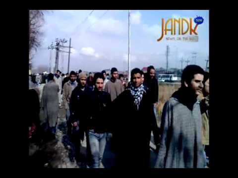 Students protest outside JK Board of School Education