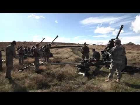U.S. Army Gunners Support Kiwi Fire Support Students