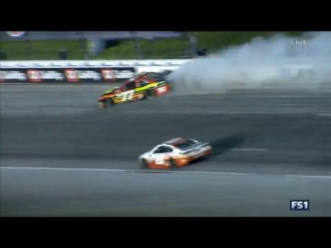 Monster Energy NASCAR Cup Series 2017. Kansas Speedway. Erik Jones Spins #2