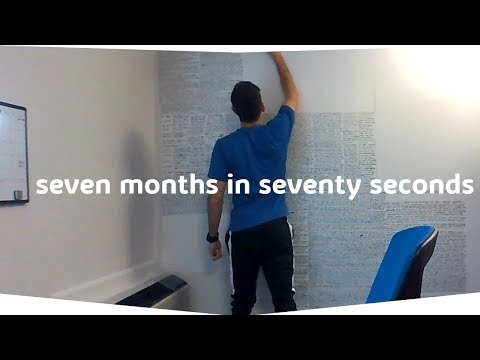 7 months of studying in 70 seconds  |   Patent Bar Exam