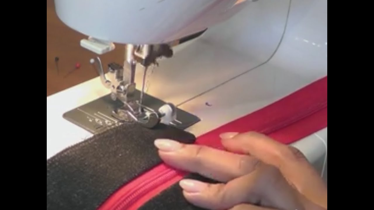 inserting zipper into any bag - designer tote bag / recycled jeans