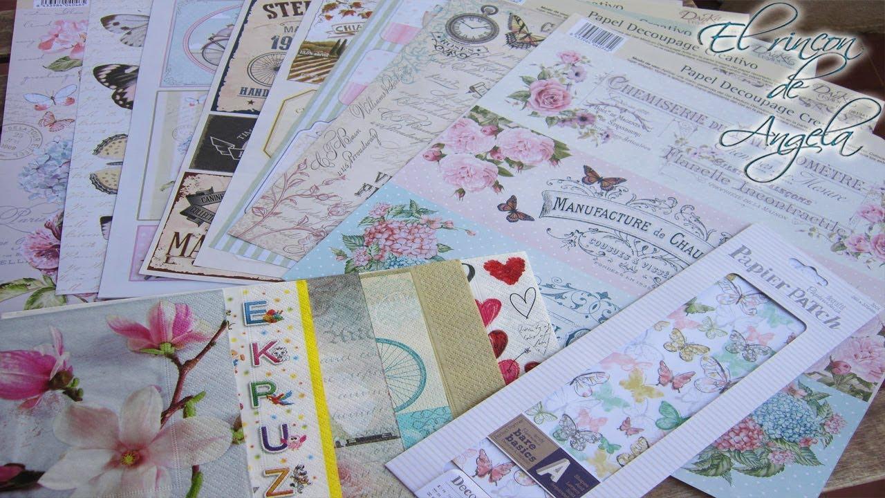 Tipos de papeles para decoupage decoupage con papel y - Papel decoupage infantil ...