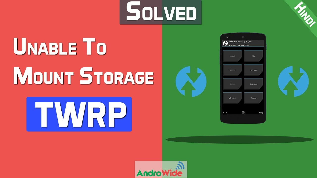 Solved: Unable To Mount Storage TWRP, Internal Storage 0 MB