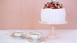 Sponge Cake with Strawberry-Meringue Buttercream- Sweet Talk with Lindsay Strand