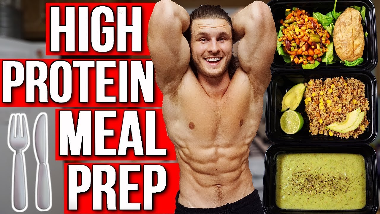 VEGAN MEAL PREP FOR MUSCLE   EASY HIGH PROTEIN MEALS