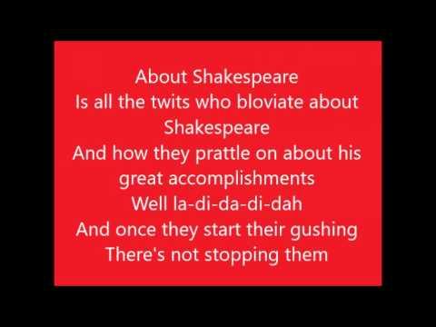 Something Rotten!: God, I Hate Shakespeare with lyrics