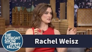 rachel weisz teaches jimmy how to pronounce michael caine